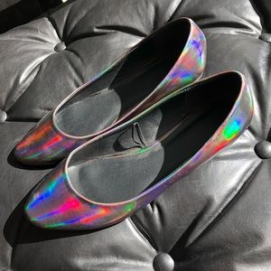 Forever 21 Holographic Iridescent Flats